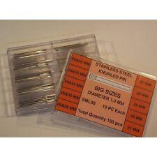 Assortimento Perni acciaio Testa Zigrinata XXL da 22 a 36 mm ø 1,00 mm knurled