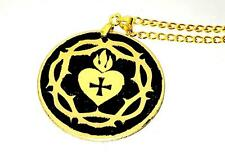 ROSICRUCIAN HEART TALISMAN SOLID BRASS Occult Amulet Magick Magic Witchcraft