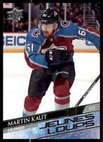 2020-21 UD Series 1 French Young Guns #217 Martin Kaut RC - Colorado Avalanche