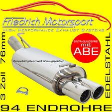 FRIEDRICH MOTORSPORT V2A SPORTAUSPUFF 76MM Seat Leon +FR+SC 5F 1.8 TSI 2.0 TDI