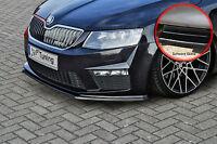 Spoilerschwert Frontspoiler aus ABS für Skoda Octavia 5E RS ABE schwarz glänzend