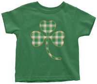 Plaid Shamrock Toddler T-Shirt St. Patrick's Day Irish Pride Gift