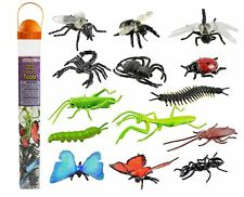 Insects Toob ~ Safari Ltd #695304 ~ toy plastic ladybug, spider, fly, ant, bee