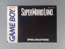 NINTENDO GAMEBOY SUPER MARIO LAND ORIGINAL INSTRUCTION MANUAL PAL NOE