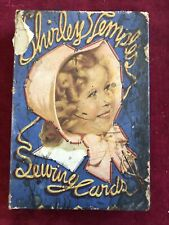 Shirley Temple Sewing Cards #1721 By Saalfield Publishing Co. Original Box 1936