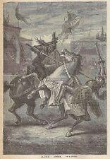 A2000 Disfida - Stampa Antica del 1888 - Incisione - Engraving