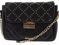 Purse RAMPAGE  NWT Black Quilt Stitch😍 Silver Studded Cross-Body Square
