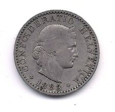 1883  Switzerland Twenty  Rappen--Very Nice Coin!!
