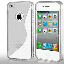 Grip Wave S-Line Soft Silicone TPU Gel Skin Case Cover For APPLE IPHONE 4 4G 4S