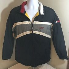 Tommy Hilfigher Jeans Reversable Jacket Black/Yellow Flag Tag See Measurments FS
