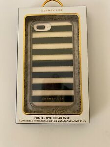 Dabney Lee  Protective Clear Case Compatible Iphone 8/7/6s/6 Plus. Black Striped