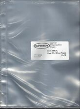 Pkg. of 12 MP3C Supersafe Clear Mint Sheet Pages for SCOTT or Supersafe Binders