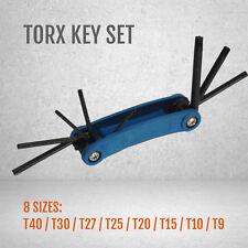 8 Size Torx Allen Key Drive Wrench Star Spanner T9 T10 T15 T20 T25 T27 T30 T40