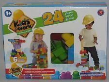 Amloid Kids at Work 24 Piece Interlocking Building Block Set  NIB