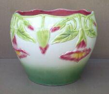 CACHE POT céramique barbotine à identifier LISERON ancien vintage pot de fleurs