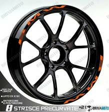 PROFILI BMW RUOTA ADESIVI ADESIVO STICKER BMW WHEEL ARANCIO F 700 GS