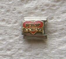 """""""SCRAP BOOKING IN RED HEART""""-ITALIAN 9MM CHARM- HOBBY, PICTURES"""