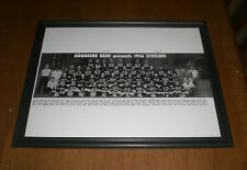 1956 STEELERS & DUQUESNE BEER FRAMED TEAM PRINT