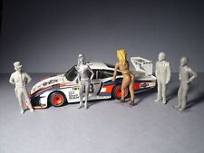 5  FIGURINES 1/43  SET  341  AMBIANCE  LE  MANS  VROOM  UNPAINTED  FOR  SPARK