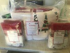 Pottery Barn Kids Merry Santa Full Queen Quilt 2 shams Christmas jolly heritage