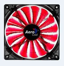 Computer PC 120mm Shark Fin Blade Red Cooling Cooler Case Fan Quad LED 4 Pin 12V