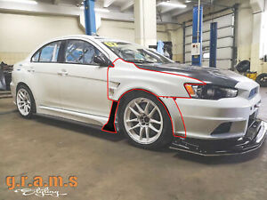 Varis Style Front Wide Wings / Fenders +30mm for Mitsubishi Lancer Evo X v8