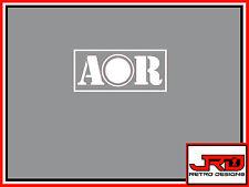 AOR in Vinile Adesivo del logo in bianco