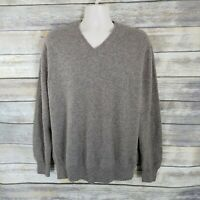 DANIEL CREMIEUX  Size XL Signature Collection  100% Cashmere V-Neck Sweater Tan
