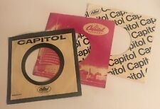 3 Original Capitol 45rpm Sleeves / For Beatles 45s / Great condition!