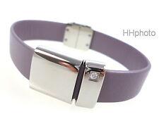 """Swatch Bijoux Jewelry: Leather Bracelet """" Glistery """" New/Very Rarely Small"""