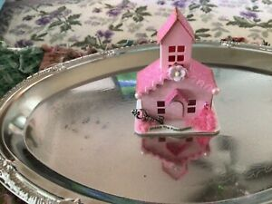 Tim Holtz Paper Village MINIATURE PAPER PUTZ LIKE HOUSE Pretty in Pink Possible