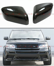 2008-2012 LAND RANGE ROVER BLK CARBON FIBER SIDE MIRROR COVER CAPS OVERLAY PAIR