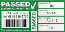 984x Fully Personalised Cable Wrap PAT Testing Labels with Bar Code