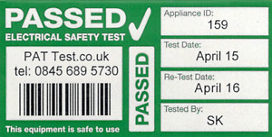 96x Fully Personalised Cable Wrap PAT Testing Labels with Bar Code