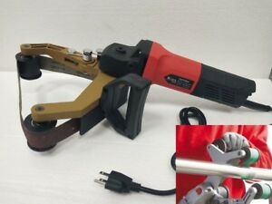 Tube Belt Sander Stainless Steel Pipe Polisher Around Pipe Electric Sanding work