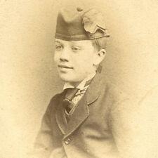 1870s YOUNG BOY SCOTTISH HAT CDV PHOTO CARTE DE VISITE VICTORIAN WORCESTER