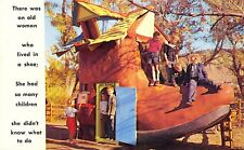 Rapid City SD Story Book Island~Old Woman In A Shoe~Didn't Know What To Do 1964