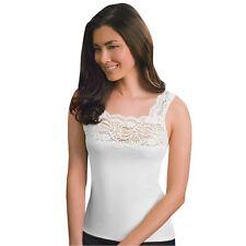 CUDDL DUDS Softech Square Neck White Camisole Size Medium