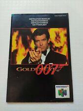 GOLDENEYE 007 INSTRUCTIONS MANUAL. N64. PAL UK. BOOKLET