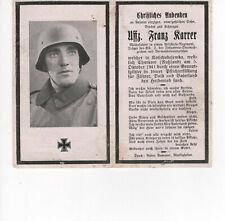 orig. STERBEBILD - DEATH CARD - Kradmelder - Stahlhelm - TOP FOTO