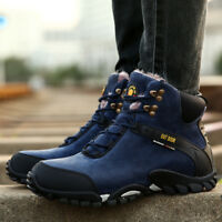 Plush Men's Hiking Shoes Snow Boots Outdoor Warm Boots Sneakers Plus Size Winter