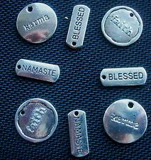 8 Spiritual Words Faith Namaste Karma Blessed Charms Set