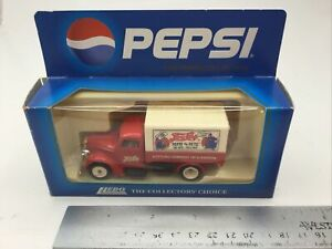Vintage LLEDO Days Gone By PEPSI Cola Red Ford Canvassed Delivery Truck 1:50 MIB