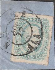 Confederate CSA #10 RARE Genuine Frame Line Stamp with CSA Certificate