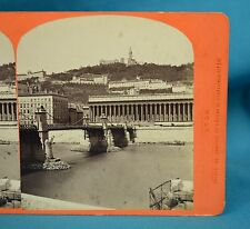 1870s French Stereoview Photo Lyon Palais De Justice Observatoires Gay France