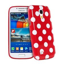 Lovely Red & White Polka Dot TPU Case Cover for Samsung Galaxy S4 Mini i9190