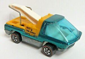 1969 Hong Kong Hot Wheels redline HEAVYWEIGHTS TOW TRUCK aquamarine diecast n1