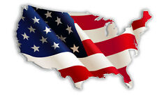 "USA United States of America American US map flag sticker decal 5"" x 3"""