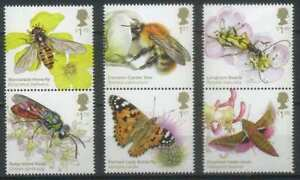 Great Britain 2020 Fauna, Insects, Butterflies, Moths, Bees,Brilliant Bugs MNH**