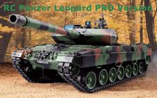 RC Panzer Heng Long Leopard 2A6 PRO Metallketten Getriebe Rauch Sound 6mm Schuss